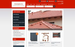 Cserép webáruház
