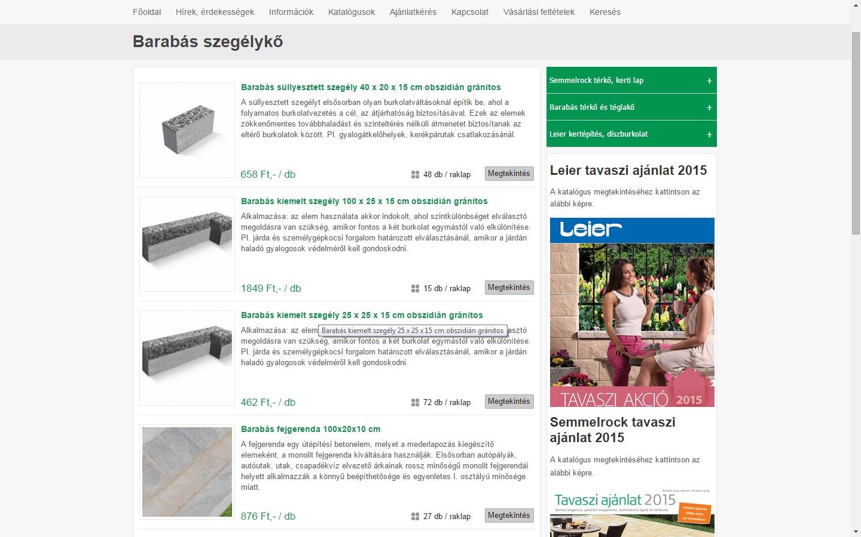 Térkő, díszkő, téglakő webshop